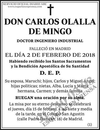 Carlos Olalla de Mingo